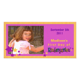 Custom First Day of Kindergarten Personalized Photo Card