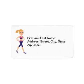 Custom Fitness Return Address Label