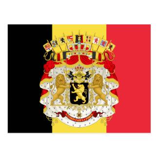 Custom Flag of Belgium Black Yellow Red Postcard