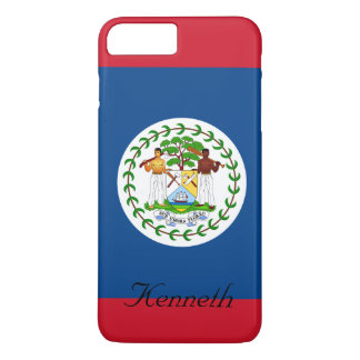 Custom Flag of Belize Red and Blue iPhone 8 Plus/7 Plus Case