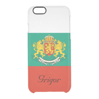 Custom Flag of Bulgaria Tricolour White Green Red Clear iPhone 6/6S Case