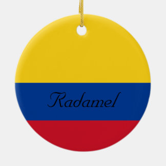 Custom Flag of Colombia Yellow Blue Red Ceramic Ornament