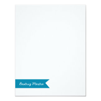 Custom Flat Notes Card Blue Banner | Eco-Friendly