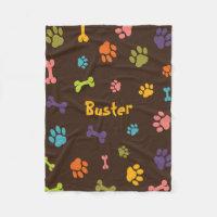 Custom Fleece Dog Blanket, Small