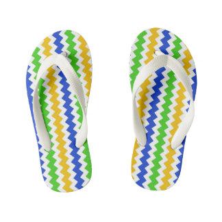 Custom Flip Flops, Kids Zigzag Image Kid's Flip Flops