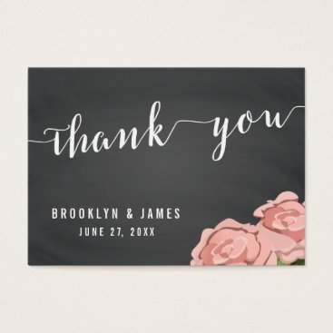 Professional Business Custom Floral Chalkboard Wedding Favor Tags