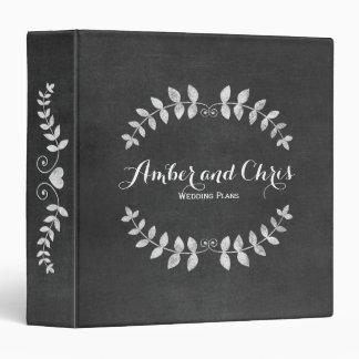 Custom Floral Chalkboard Wedding Planner Binder