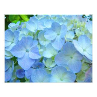 Custom Floral Flyers Blue Hydrangeas Holidays