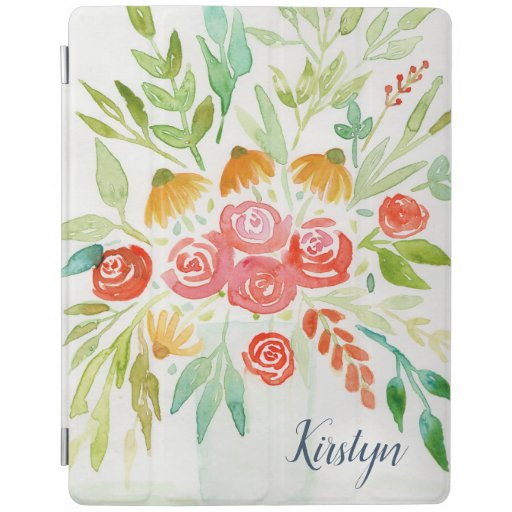 Custom Floral iPad Smart Cover