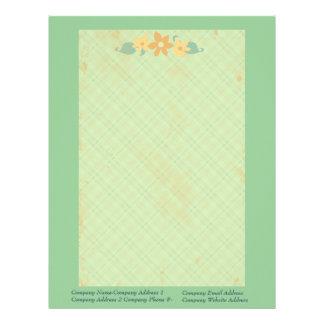 Custom Floral Vintage Letterhead