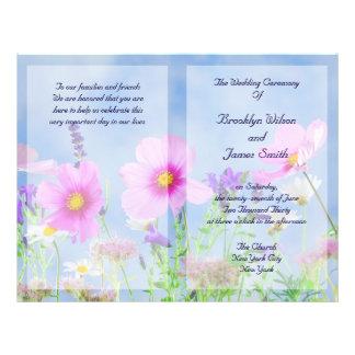 "Custom Floral Wedding Programs Flyer Wild Flowers 8.5"" X 11"" Flyer"