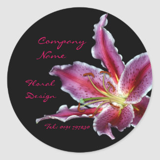 Custom florist business sticker