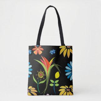 Custom Flower All-Over-Print Tote Bag