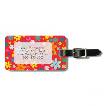 takeme4aride CUSTOM FLOWER  PATTERN, FLORAL LUGGAGE TAG