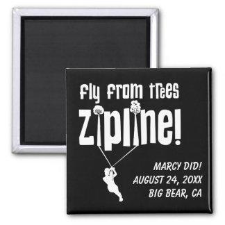 Custom Fly from Trees Ziplining Magnet