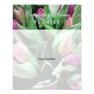 Custom flyers for florist shop flower business