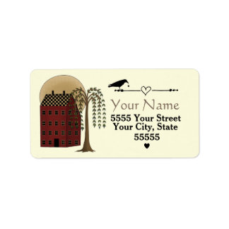 Custom Folk Art Address Labels