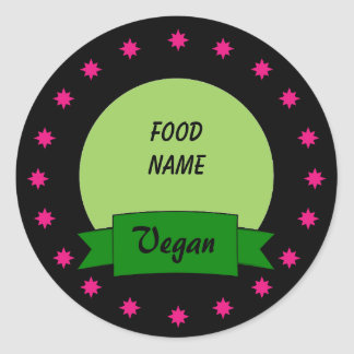 Custom Food Label Stickers - Vegan
