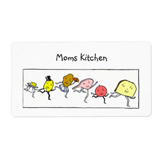 Custom Foods Vintage Kitchen Art Labels