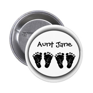 Custom Foot Prints Pinback Button