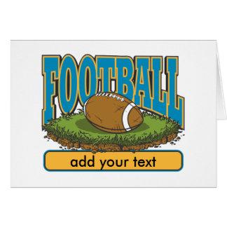 Custom Football Add Text Card