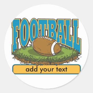 Custom Football Add Text Classic Round Sticker