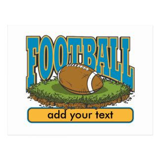 Custom Football Add Text Postcard