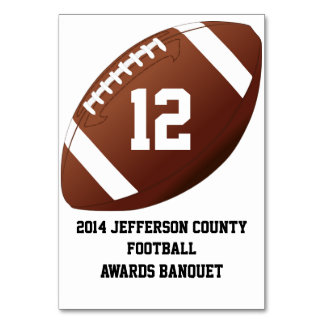 Custom Football Banquet Table Number Card Table Cards