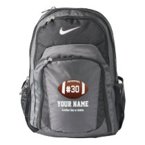 Custom Football Design with Name, Number, Team Nike Backpack