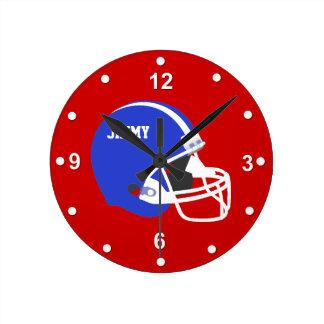 Custom Football Helmet Wall Clock