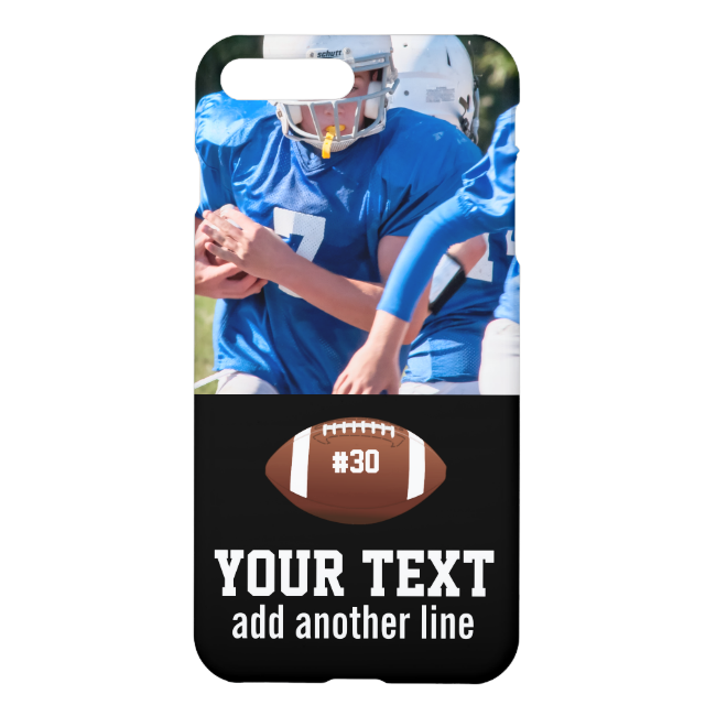 Custom Football Photo Name and Number iPhone 7 Plus Case