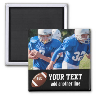 Custom Football Photo Name and Number Magnet