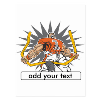 Custom Football Player Orange Postcard