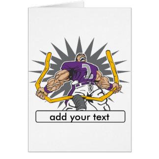 Custom Football Player Purple Card