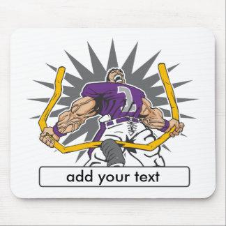 Custom Football Player Purple Mouse Pad