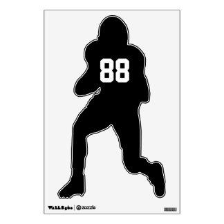 Custom Football Player Wall Decal Graphic - Black