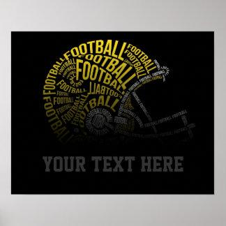 Custom Football Poster