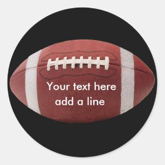 Custom Football Stickers Round Sticker