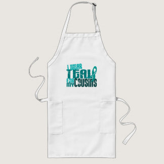 Custom For Carrie I Wear Teal Cousins Ovarian Canc Long Apron