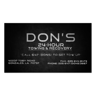 Custom for Don s Towing Business Card Templates