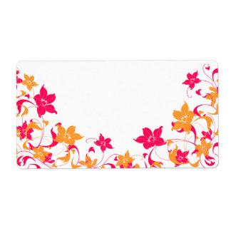 Custom for Joan Floral Border Address Label