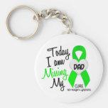 Custom For Olivia Missing My Dad Lymphoma Basic Round Button Keychain
