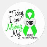 Custom For Olivia Missing My Dad Lymphoma Round Sticker