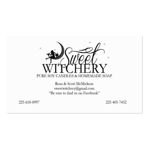 Candle business card templates page2 bizcardstudio custom for sweet witchery business card colourmoves