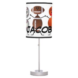 Custom For The Love of Sports Desk Lamp