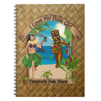 Custom For Yamamoto Hula Ohana Hula Girl Notebook