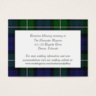 Custom Forbes Plaid Wedding Enclosure Card
