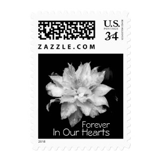 Custom Forever in Our Hearts Clematis Funeral Postage