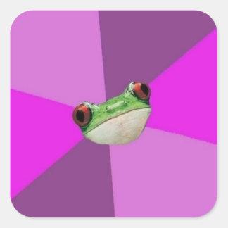Custom Foul Bachelorette Frog Stickers