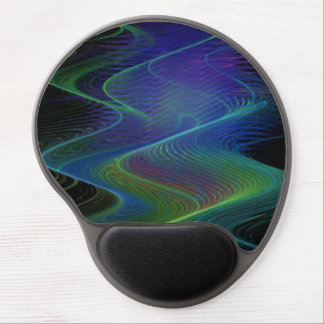 Custom Fractal Misty Wave Wrist Support Mousepad
